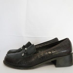 Brighton Women's 9 M Donna Loafers Embossed Croc